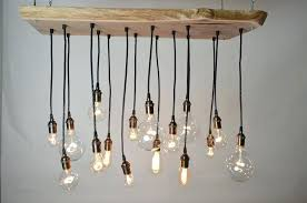 vintage light bulb chandelier live edge walnut bulb chandelier by urban old fashioned light bulb chandelier
