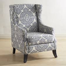 ... Chairs, Blue Accent Chairs Living Room Chairs For Sale With White And  Blue Abstract Patterned ...
