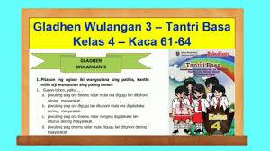Budi sinau karo guru les. Gladhen Wulangan 3 Tantri Basa Kelas 4 Hal 61 64 Bahasa Jawa Kelas 4 Youtube