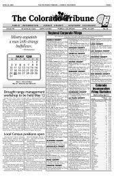 April 4, 2009 the colorado tribune - pueblo