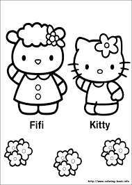 For kids hello kitty coloring pages cooring book game videos. Hello Kitty Coloring Picture