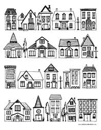 Click the button below to download and print this coloring sheet. Houses Coloring Page Dabbles Babbles