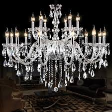 noble luxurious export k9 clear crystal chandelier white chandelier vintage crystal chandelier iron optional res de cristal chandeliers