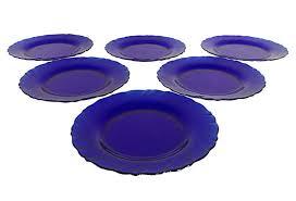 french glass salad plates set of six