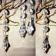 crystal beads for chandeliers acrylic crystal beads garland chandelier hanging wedding birthday party decoration crystal beads for chandeliers