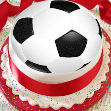 Football Black White Soccer Ball 75 Inch Precut Edible Birthday