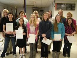 students win i love america essay contest fairfield ia  ledger photo i love america essay contest winners from left front row amanda carminhato a gottshall lily halley devyn redmann julia fritz
