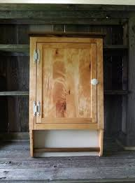 pallet bathroom wall cabinet with towel