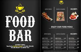 free food menu templates free menu design templates lightspeed restaurant pos