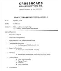 Meeting Memo Template Amazing Construction Meeting Agenda Template 44 Free Word PDF Documents