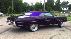 Candy Purple 73 Caprice Convertible on 26 Forgiato Autonomos - YouTube