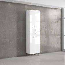 tall bathroom storage cabinets. MODERN WHITE TALL BATHROOM STORAGE CABINET UNIT HIGH GLOSS ! ONLY 169£ WOW Tall Bathroom Storage Cabinets B