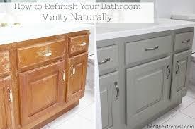 How To Refinish A Bathroom Vanity Naturally No VOCs Health Extremist Enchanting Refinishing Bathroom Vanity