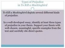to kill a mockingbird racial prejudice essay internet censorship  to kill a mockingbird racial prejudice essay