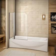 bath screen with fixed glass panel loading zoom