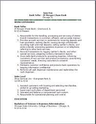 bank teller resumeexamplessamples free edit with word resume for bank teller
