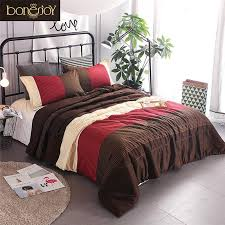 bonenjoy striped comforter sets red colorful quilted duvet with pillowcase for summer used thin filling bedspread set queen size grey and white comforter
