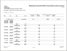 05 01 01 18 Employee Vacation Sick Hours Accrued By Hour Sage100reports Com
