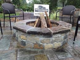 concrete patio with fire pit. Fire Pit Cincinnati Stamped Concrete Patio With N