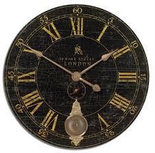london aged black pendulum wall clock