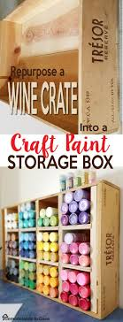 diy decorated storage boxes. Diy Crafts Ideas. Repurpose A Wine Crate ---\u003e Craft Paint Storage Box - Room Organization Decorated Boxes