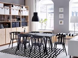 furniture remarkable ideas dining room ideas ikea a large dining room with a black dining table and