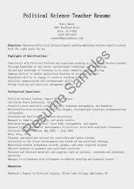 Resume Of Science Teacher Resume Examples Science Teacher Teacher