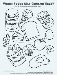 Healthy Diet Coloring Pages Food Page Eating Pdf Col Truyendichinfo