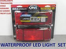 submersible trailer lights boat trailer led tail light set optronics submersible rectangle 16rk wesbar repl