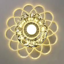 surface mount ceiling light modern led crystal flush for bathroom kitchen corridor aisle hallway art le
