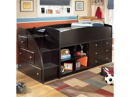 Signature Design by Ashley Embrace Twin Loft Bed with Left Storage ...