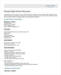 How To Write A Resume For High School Students Impressive 28 High School Student Resume Templates PDF DOC Free Premium