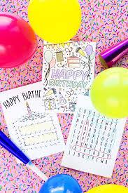 Diy Kids Birthday Card Free Printable Birthday Cards For Kids Studio Diy