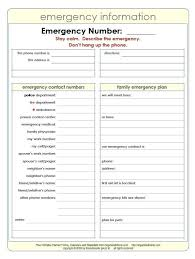 Family Contact List Template Emergency Phone Numbers List Template