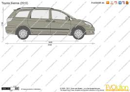 The-Blueprints.com - Vector Drawing - Toyota Sienna