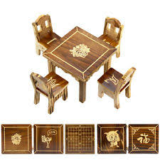 minature doll house furniture. Wooden Dollhouse Miniature Furniture Mini Dining Room 1pc Table 4pcs Chair New. Minature Doll House