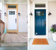 The Painted Front Door Yellow Brick Home