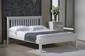 Small Double Bedroom Shaker 4 Foot Small Double Bed 200cm In White By Verona Design