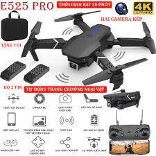 TẶNG TÚI ĐỰNG - Flycam mini 4K E525 PRO, Flycam giá rẻ hai camera kép dễ  dàng