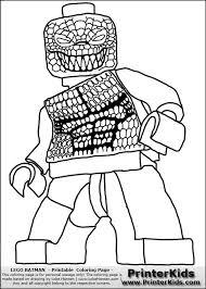 Color Pages For Batmans Villians Lego Lego Batman Killer Croc