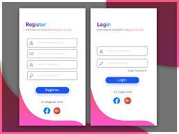 Design Of Screen Register Login Screen Design For Mobile Indosoft Technology