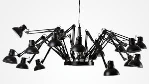 this unique spider like chandelier will give you all the lighting you need for any room of any size while also providing a neat conversation