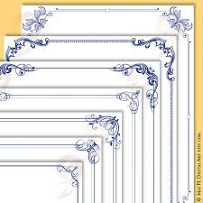 Certificate Borders For Word Inspiration Navy Blue Borders And Frames 48x48 Decorative Border Corner Etsy