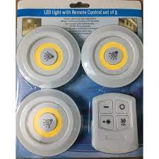 Bộ 3 đèn led dán tường điều khiển từ xa thông minh - Đèn chuyên dụng