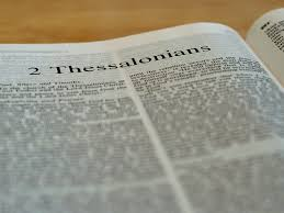 Bible open to 2 Thessalonians