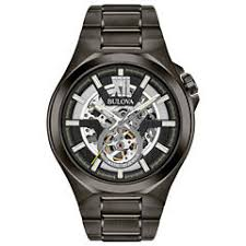 bulova men s watches for jewelry watches jcpenney bulova mens gray bracelet watch 98a179