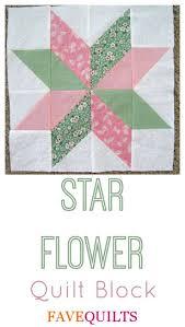 63 best images about 23 quilt blocks on Pinterest | Quilt, Bed ... & Star Flower Quilt Block Adamdwight.com