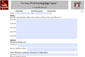 Bodybuilding Workout Chart For Men Pdf Be Your Own Bodybuilding Coach Integrative Bodybuilding