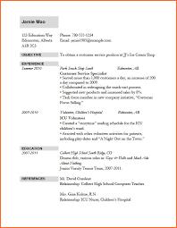 Job Application Resume Template Sample Of A Cv For Job Application