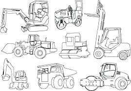Construction Trucks Coloring Pages Construction